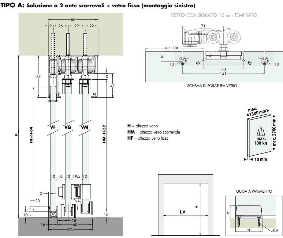 alluminio per porte scorrevoli - Sistemi Logli Massimo - Sistemi per ...