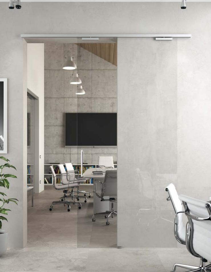 Sistema porta scorrevole alluminio lm31 sistemi per - Porte scorrevoli bagno ...