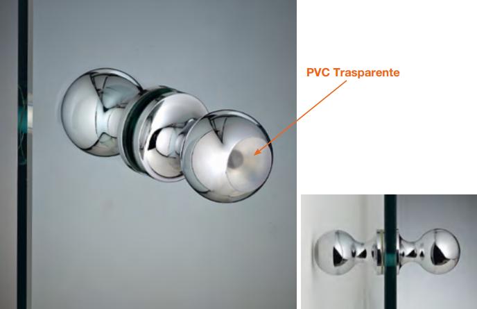 Coppia pomelli protettivi all'urto in ottone / pvc Ø30x45 mm POMPVC®