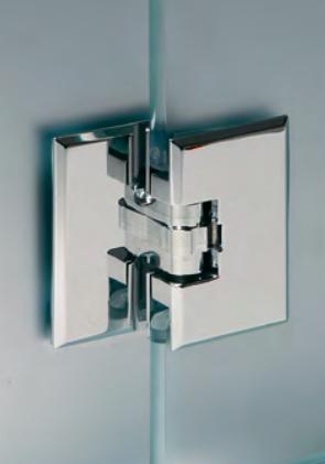 Cerniera 32 sovrapposta vetro/vetro - in linea CER32®