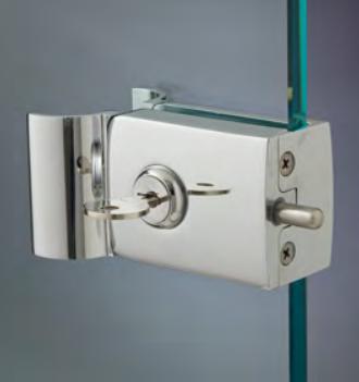 Chiusure serie 200 senza fori sul vetro chiusura con serratura serie 200 con maniglia CLKM27®