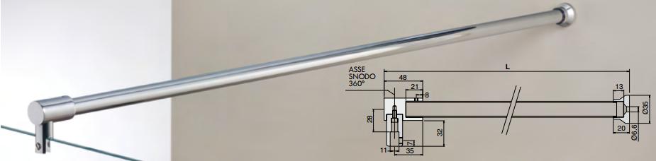 Asta di sicurezza muro / vetro MF061®