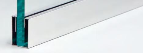 """Canalmirror - canalina in acciaio canalina ad """"u"""" in acciaio lucido a specchio 8k con bordo piegato CMIRR®"""
