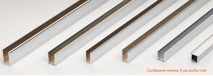 K romo profili in alluminio cromati in barre da 3 metri K-PROFALL®