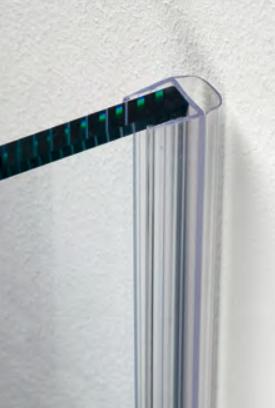 Guarnizione per pareti doccia con palloncino per vetri 10/12 mm GM42®
