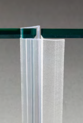 Guarnizione per pareti doccia di tenuta con aletta per vetri 10/12 mm GM44®