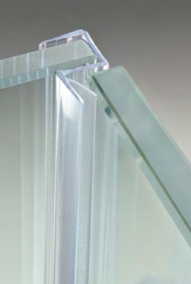Guarnizione per pareti doccia con battuta 90° per vetri 10/12 mm GM50®