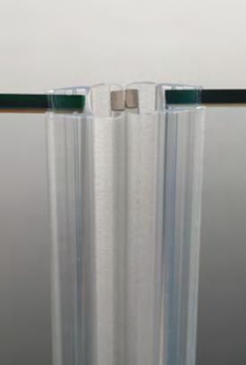 Guarnizione per pareti doccia magnetica in linea per vetri 8/10 mm GM17®
