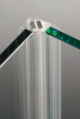 Guarnizioni pareti doccia guarnizione magnetica a 45° per vetri 8/10 mm GM15®