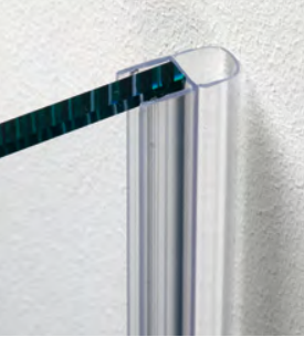 Guarnizione per pareti doccia con palloncino per vetri 6/8 mm GM62®