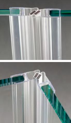 Guarnizione magnetica a 45° per vetri 6/8 mm GM62DS®