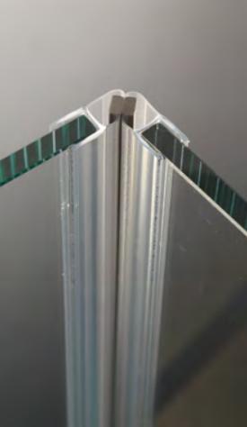 Guarnizione per pareti doccia magnetica a 45° per vetri 6/8 mm GM12®