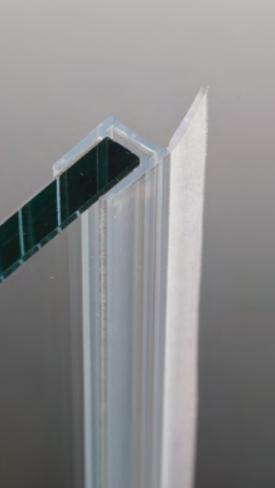 Guarnizione per pareti doccia di tenuta ad aletta per vetri 6/8 mm GM72®