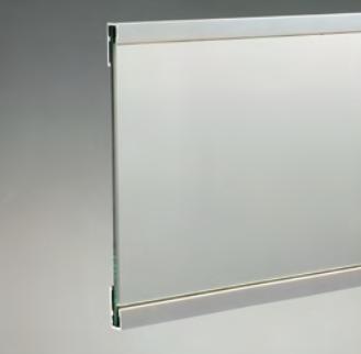 Profili per supporto specchi - serie mt profilo per supporto specchi singolo mts MTS3000®