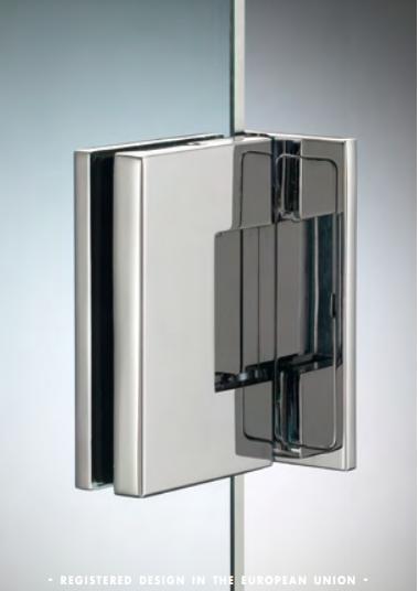 Cerniera laterale serie hd square small regolabile per vetri 6/8 mm DQ30COV®