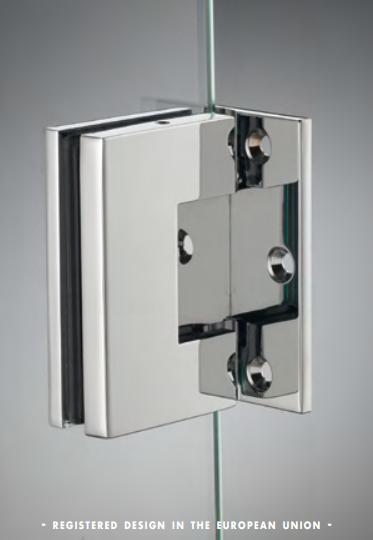 Cerniera laterale serie hd square small regolabile per vetri 6/8 mm DQ30®