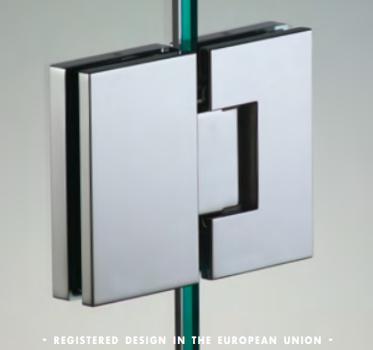 Cerniera in linea serie hd square small regolabile per vetri 6/8 mm DQ380®