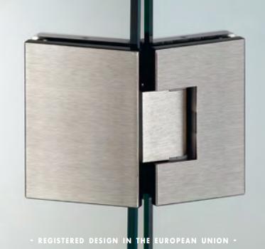 Cerniera 135° serie hd square small regolabile per vetri 6/8 mm DQ3135®