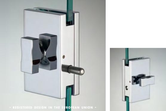 Chiusura con pomello/pomello serie hd square small per vetri 6/8 mm DQC35®
