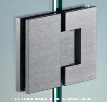 Cerniera in linea serie hd square regolabile per vetri 8/12 mm DQ480®