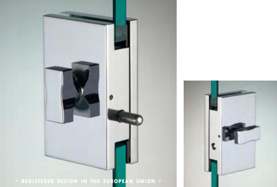 Chiusura con pomello/pomello serie hd square per vetri 10/12 mm DQC55®