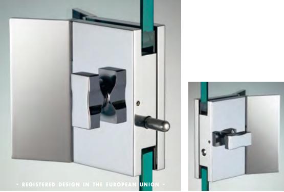 Chiusura con pomello/pomello serie hd square con maniglia per vetri 10/12 mm DQC575®