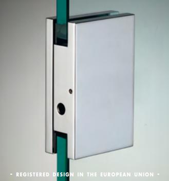 Cartella di riscontro per chiusure serie hd square per vetri 10/12 mm DQC61®