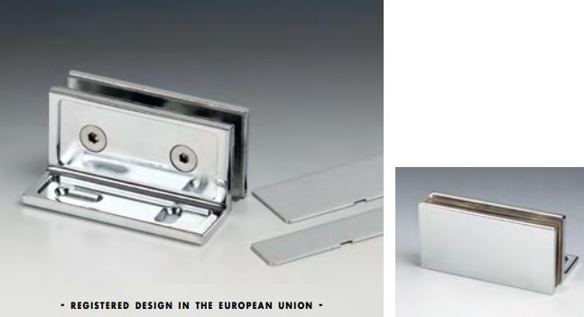 Morsetto muro/vetro 80x28 mm con fori asolati serie hd square per vetri 6/12 mm DQM11®