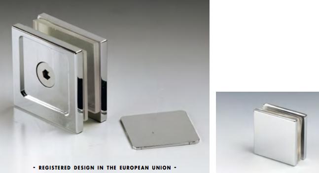 Morsetto muro/vetro 1 serie hd square per vetri 6/12 mm DQM41®