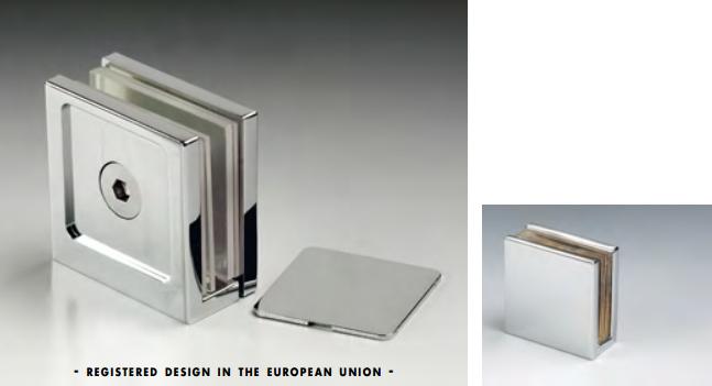Morsetto muro/vetro 2 serie hd square per vetri 6/12 mm DQM43®