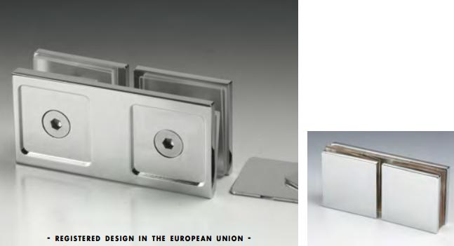 Morsetto vetro/vetro in linea serie hd square per vetri 6/12 mm DQM45®