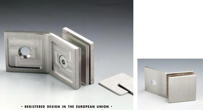 Morsetto muro/vetro 135° serie hd square per vetri 6/12 mm DQM54®