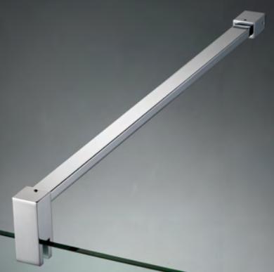 Asta di sicurezza muro/vetro con attacco a parete fisso e morsetto alto DQX®