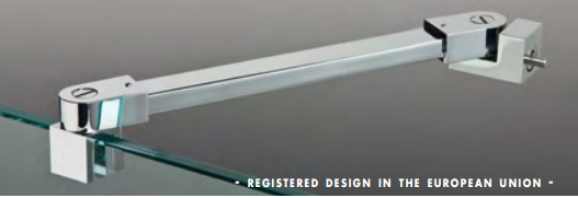 Asta di sicurezza muro/vetro con doppio snodo serie hd square DQA55®