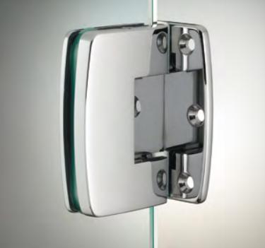 Cerniera con copertina serie hd small regolabile laterale per vetri 6/8 mm CHD10®