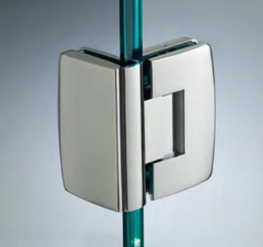 Cerniera con copertina serie hd small regolabile 90° per vetri 6/8 mm CHD190®