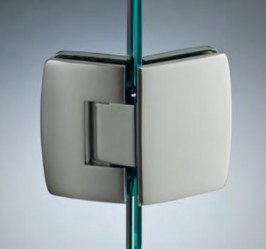 Cerniera con copertina serie hd small regolabile 135° per vetri 6/8 mm CHD1135®