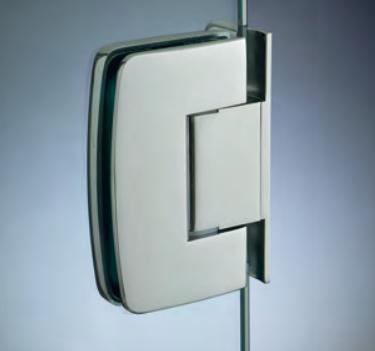 Cerniera con copertina serie hd regolabile laterale per vetri 8/10 mm CHD20®