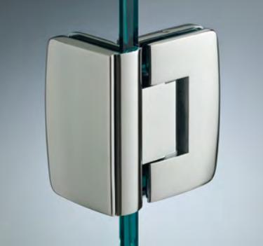 Cerniera con copertina serie hd regolabile 90° per vetri 8/10 mm CHD290®