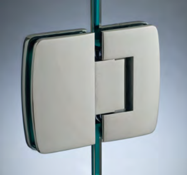 Cerniera con copertina serie hd regolabile in linea per vetri 8/10 mm CHD280®