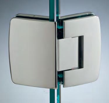 Cerniera con copertina serie hd regolabile 135° per vetri 8/10 mm CHD2135®
