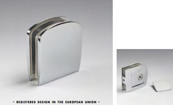 Morsetto muro/vetro 1 serie hd per vetri 6/12 mm CHDM41®