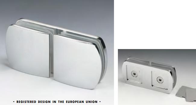 Morsetto vetro/vetro in linea serie hd per vetri 6/12 mm CHDM45®