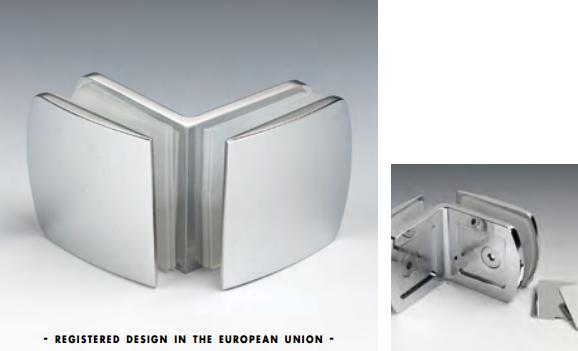 Morsetto vetro/vetro 90° 51x45 mm serie hd per vetri 6/12 mm CHDM47®