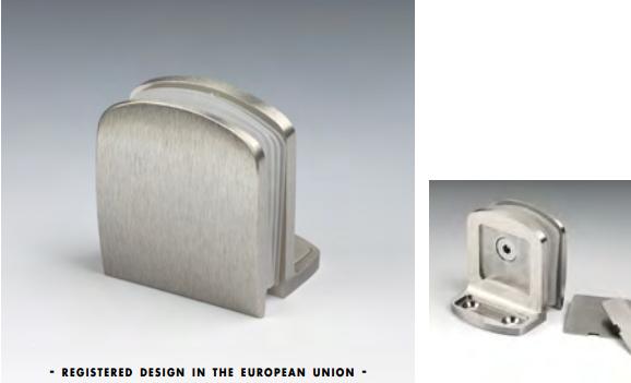 Morsetto muro/vetro 51x45 mm serie hd square per vetri 6/12 mm CHDM57®
