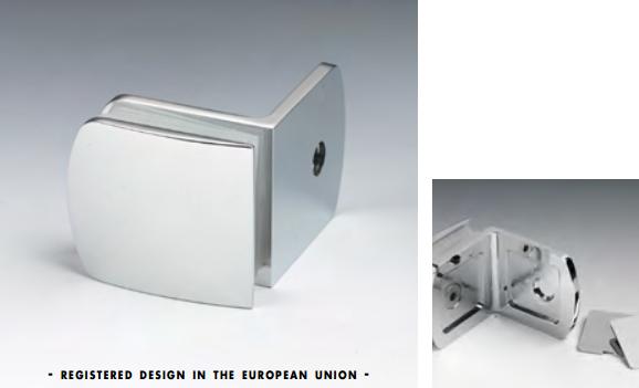 Morsetto muro/vetro 51x45 mm serie hd per vetri 6/12 mm CHDM52®