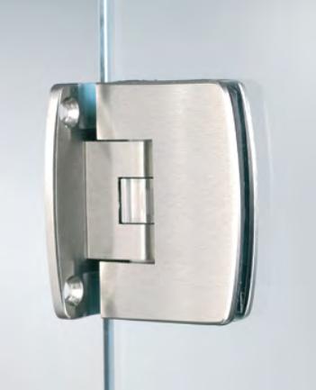 Cerniera serie 400 small regolabile centrale per vetri 6/8 mm S153®