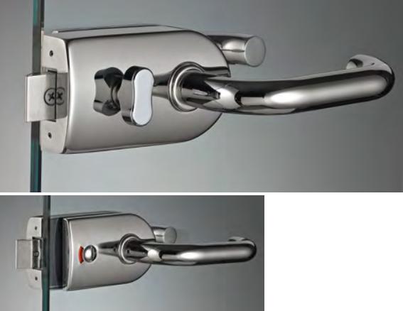 Serratura con chiusura di riservatezza e pomolo girevole SR118®