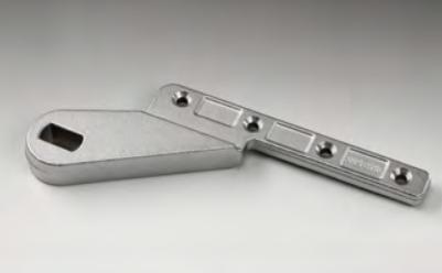 Cerniera inferiore ad asse decentrato per porte in legno/metallo SX-PI05®