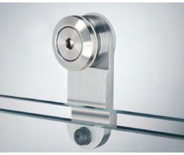 Fermo porta con borchia attacco vetro FPT07®